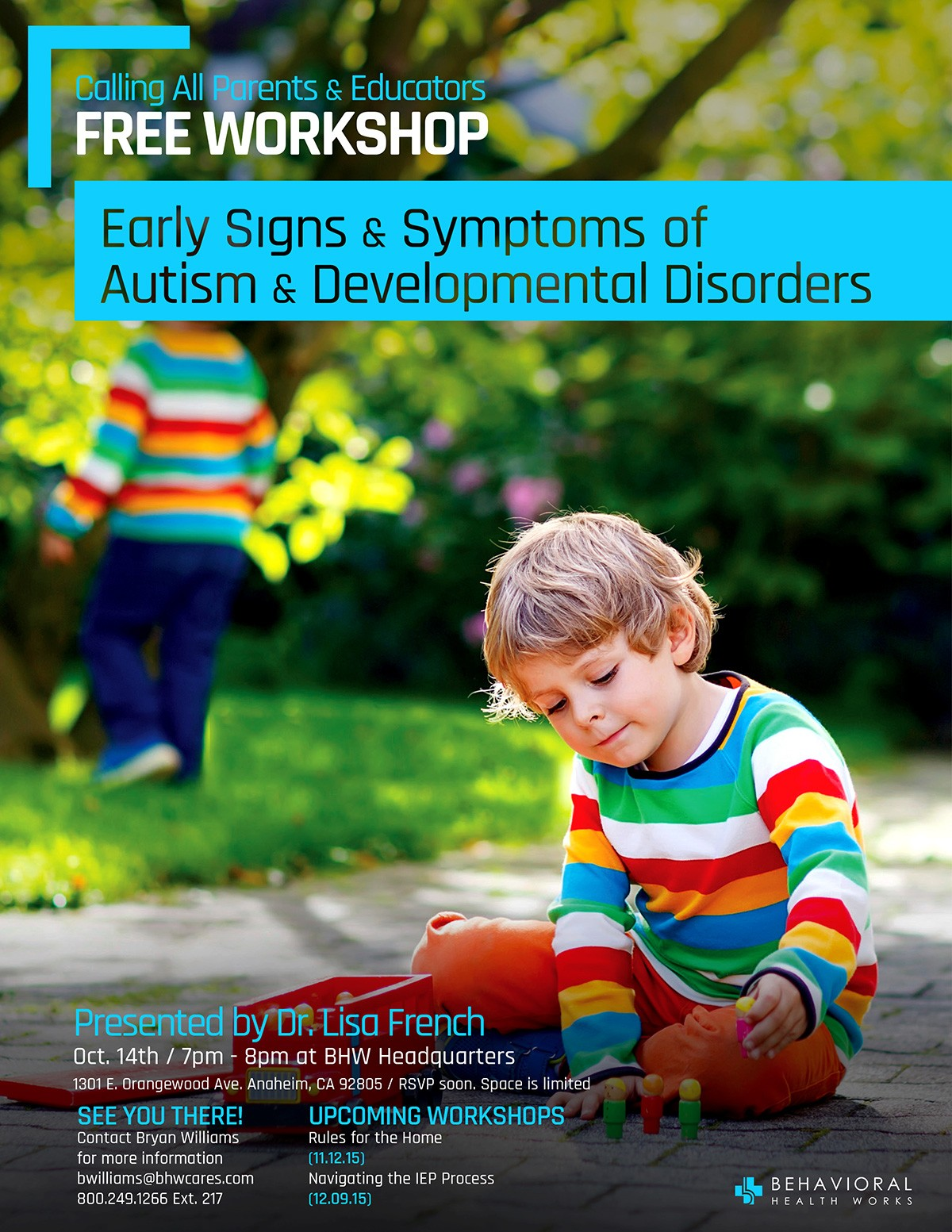 Early Signs and Symptoms of Autism
