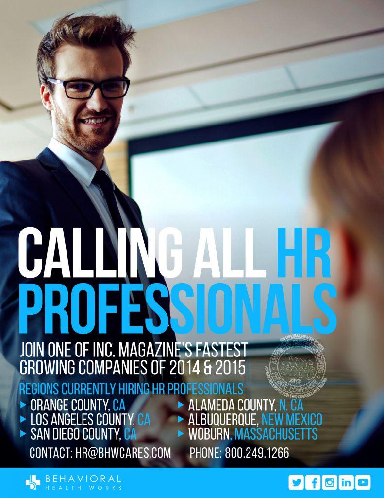 BHW Hiring HR Professionals