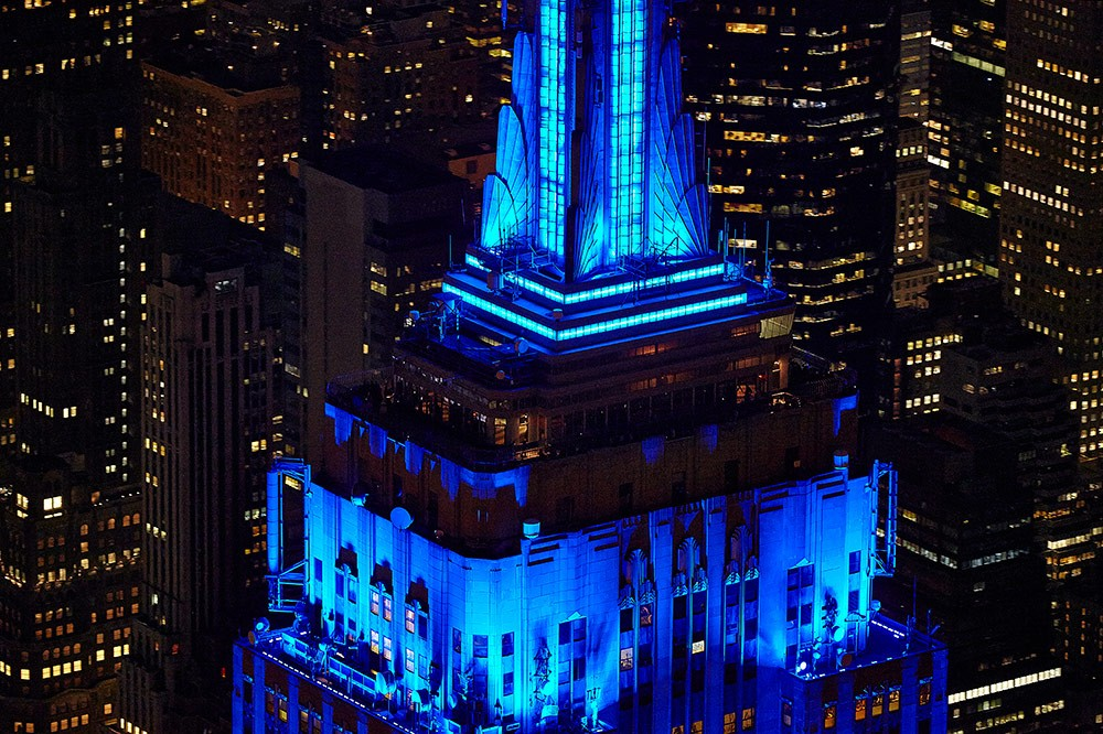 Light it up Blue-Autism Awareness Month_Empire State Buildin