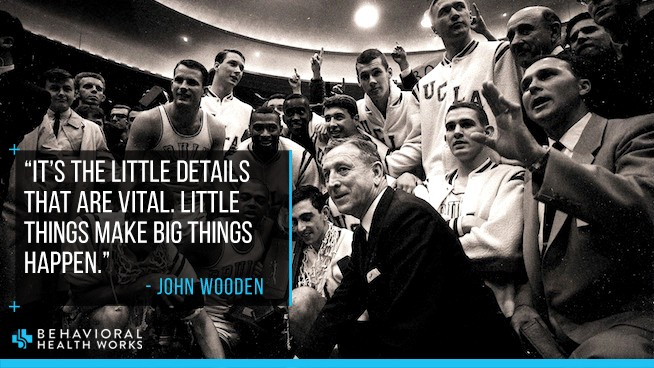 John Wooden Quote Little Things