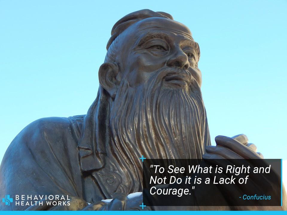 Confucius Quote of Courage