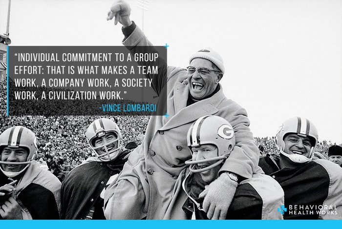 Vince Lombardi Quotes Individual Commitment Teamwork