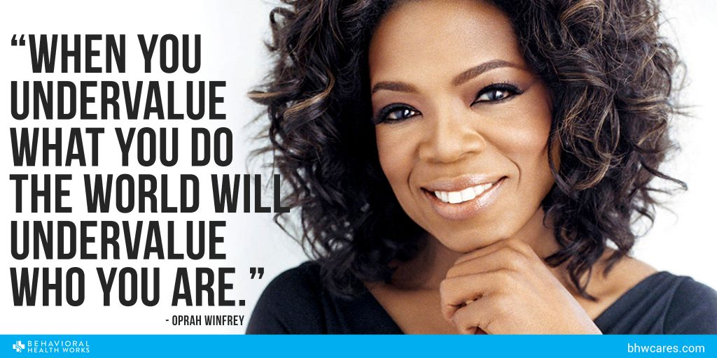 BHW Oprah Winfrey Value yourself